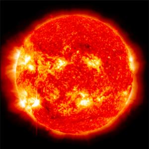 12 Kasım 2012'deki solar patlamalar sırasında görüntülenen hali güneşin