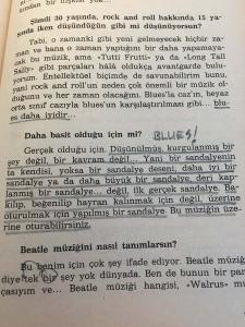 Blues'u ne kadar açık tanımlamış... Etkileyici.